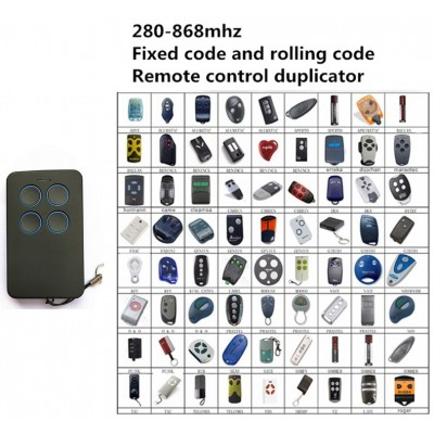 Garage door remote control multi-frequency 280-868mhz